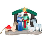 Gemmy Industries Nativity Christmas Inflatable Multicolored Velvet