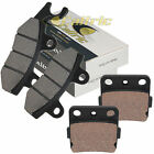 Caltric Front and Rear Brake Pads for Kawasaki KLX140 KLX140L 2008-2020