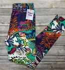 Bright Multi Color Paisley Leggings Bold Colors Feather Paisley ONE SIZE OS