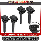 4 Ignition Coils for Suzuki Aerio Esteem Vitara Chevrolet Tracker 2001 04 UF 237