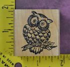 WISE OWL Embossing Arts screech barn animal bird graduation rubber stamp 2920