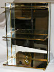 Very Nice FRANKLIN MINT CURIO DISPLAY CABINET CASE Brass  Glass EX COND