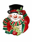 Fitz & Floyd Merry Christmas Snowman Cookies Hors d'oeuvres Snacks Canape Plate
