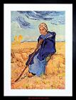 PAINTING VAN GOGH SHEPHERDESS OLD MASTER FRAMED PICTURE ART PRINT F97X9731