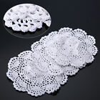 3pcs 8Vintage Floral Hand Crochet Cotton Lace Doily Round Flower Table Placemat