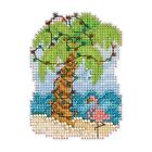 Christmas Palm Cross Stitch Ornament Kit Mill Hill 2017 Winter Holiday MH181733