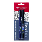 Brush Pen 2 Pens Set Tombow Fudenosuke Calligraphy Art Drawings Marker Supply