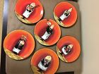 6 Boxed Certified International Dinner is Served Canape Plates Tracy Flickinger