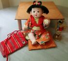 9 1 2 Vintage 1940s Japanese Baby Doll in Kimono w Cushion Made in Japan