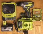 Ryobi R18PDBL ONE+ Brushless Combi Drill + 4amp Battery + Charger + Drill Bits