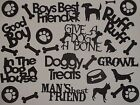 26 piece DOG theme words and confetti scrapbook die cuts greeting die cut
