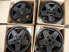 NEW 4PC SET 16 PINTLER STYLE BLACK WHEELS RIMS 5X127 5X5 16X7 0 OFFSET JEEP JK