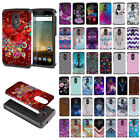 For ZTE N817 / QUEST UHURA Design Fusion Hybrid Hard Rubber Silicone Case Cover