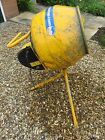 USED Belle Mastermix MC110 230 volt electric concrete mixer with stand.