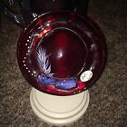 Ruby Red Hat with stand Fenton Art Glass Signed by Nancy Fenton