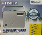 Fisher Wireless Bluetooth Karaoke Boombox System, FM Radio Player, Amplifier,...