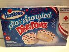 Hostess Ding Dongs Star Spangled White Fudge Covered Golden Cake Creamy Filling
