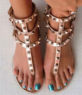 Rose Gold Studded Strappy Open Toe Gladiator Sandals US 55 11