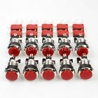 10x 30mm LED Illuminated Lighted Push Butttons Arcade 8-Liner Cherry Master Red
