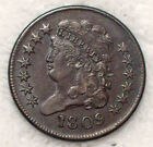 1809 HALF CENT Classic Head VF+ XF Brown Tone C-3 Rotated Reverse Authentic HC