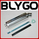 460mm SILVER Alloy Exhaust Muffler + Clamp 150cc 250cc Quad Dirt Bike ATV Buggy