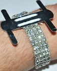 1 Piece Flower Rhinestone Corsage Wristlet Band Wristband Stretch Holder Wedding