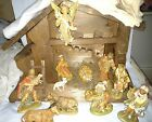 Vintage Creche 12 pc Nativity Italy Krippenfiguren Wonderful Set