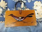 Enid Collins Original Wood Box Bag ~Road Runner II~Texas~ 60s ~Signed
