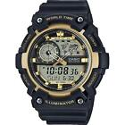 Casio AEQ-200W-9AVEF LED World Time Daily Alarms Chrono 100m wr Watch RRP £60