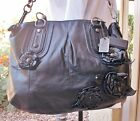 COACH Special Ed Madison Sophia Leather Flower Applique Motorcycle Chic Bag EUC