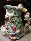 Elves and Christmas tree pitcher by Fitz and Floyd in late 1990's