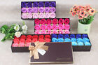 18 Pcs Set Rose Bath Soap flower Petal With Gift Box For Wedding Valentine's Day