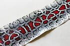 Asia Snake Skin Hide Leather Snakeskin Burmese Python Printed Million Dollar Red