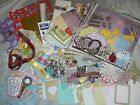 Homemade Scrapbooking Kit Dazzles Stickers Die Cuts Brads Ribbons Paper More