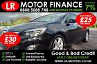 Vauxhall Opel Astra 16i 16v VVT 2011 Good Bad Credit Car Finance 25PW