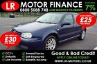 Volkswagen Golf 19SDI 2001 Good Bad Credit Car Finance FR 25 PW