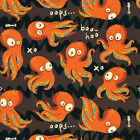 Octopus Fabric Printed by Spoonflower BTY