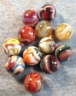 PHOENIX RISING SET OF 12 MARBLES DAVES APPALACHIAN SWIRLS