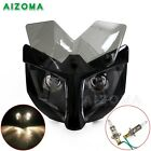 Motorcycle Fairing Dual Beam Headlight With 35-54mm Bracket Naked Street Fighter