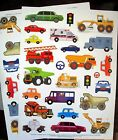 New Cars Trucks Fire Engine 50 Acid Free Stickers Scrapbooking Cards Gifts