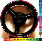 CUSTOM RIM STRIPE WHEEL DECAL TAPE STICKER SUZUKI GSR DRZ 400 SM 600 R 17 INCH