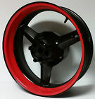 CUSTOM RED MOTORCYCLE INNER RIM DECALS WHEEL STICKERS STRIPES TAPE VINYL WRAP