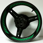DARK GREEN FULL CUSTOM INNER RIM DECALS WHEEL STICKERS STRIPES TAPE GRAPHICS KIT