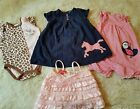Lot Of 4 Baby Girl 9 Months Clothes Kate Mack Carters Vitamims Baby