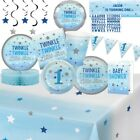 Twinkle One Little Star Blue Party Tableware Decorations  Balloons