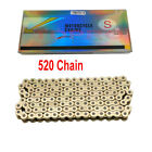 Gold 520x120 O Ring Drive Chain ATV Motorcycle MX 520 Pitch 120 Link Street Bike