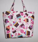 Handmade Cupcakes with A Cherry on Top  Flowers Tote Purse Bag