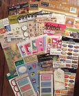 EMBELLISHMENT LOT 50 Packs Sheets Scrapbooking Alphabet 3D Stickers Tags Rub ons