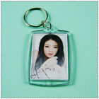 10Pcs Clear Blank Acrylic Photo Picture Frame Keyring Keychain DIY Key Ring Gift