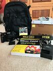 Nikon D D600 243 MP Digital SLR Camera Black Body Only with Accessories